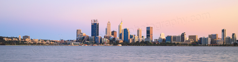 Perth and the Swan River at Sunrise, 22nd September 2015