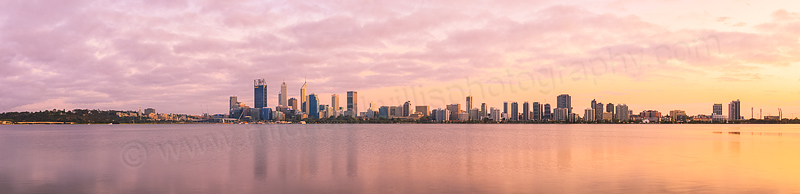 Perth and the Swan River at Sunrise, 25th September 2015