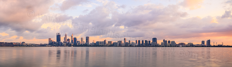 Perth and the Swan River at Sunrise, 29th September 2015