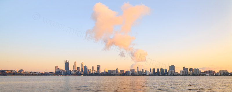 Perth and the Swan River at Sunrise, 30th September 2015