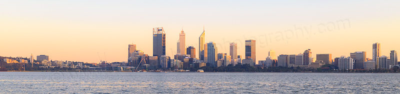 Perth and the Swan River at Sunrise, 1st October 2015