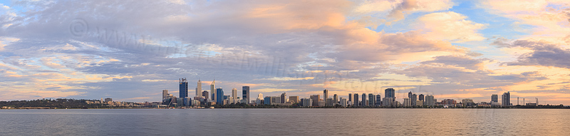 Perth and the Swan River at Sunrise, 2nd October 2015