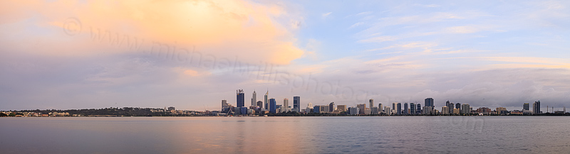 Perth and the Swan River at Sunrise, 3rd October 2015