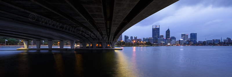Perth and the Swan River at Sunrise, 5th October 2015