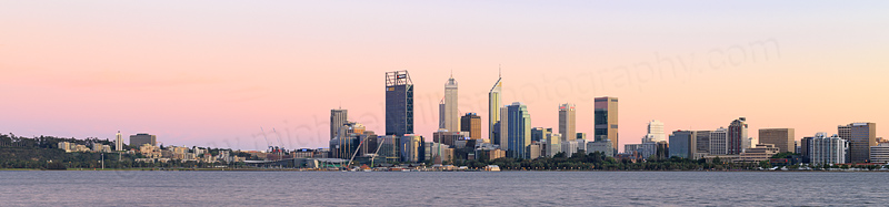 Perth and the Swan River at Sunrise, 7th October 2015