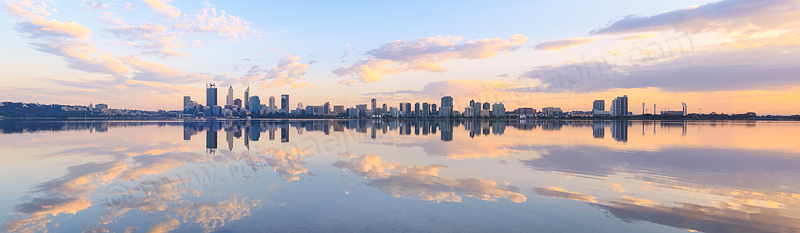 Perth and the Swan River at Sunrise, 10th October 2015
