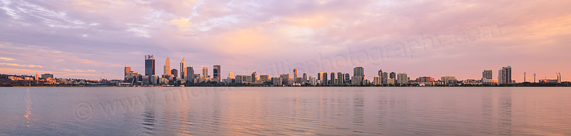 Perth and the Swan River at Sunrise, 11th October 2015