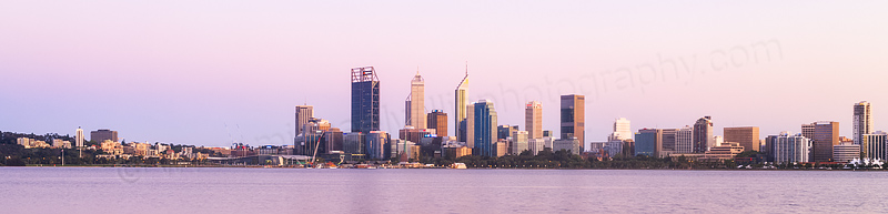 Perth and the Swan River at Sunrise, 12th October 2015