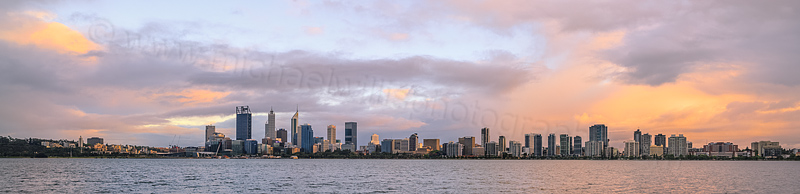 Perth and the Swan River at Sunrise, 14th October 2015