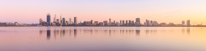 Perth and the Swan River at Sunrise, 16th October 2015