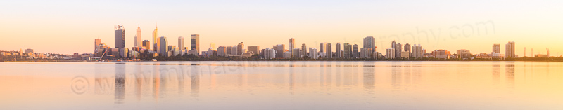 Perth and the Swan River at Sunrise, 17th October 2015