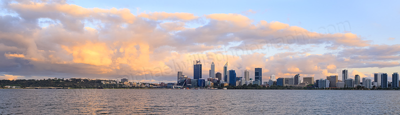 Perth and the Swan River at Sunrise, 18th October 2015