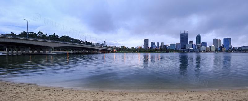 Perth and the Swan River at Sunrise, 2nd November 2015