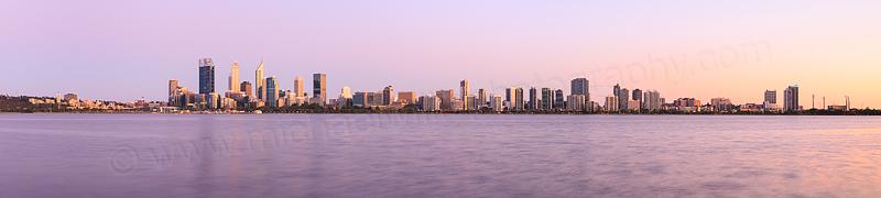 Perth and the Swan River at Sunrise, 3rd November 2015