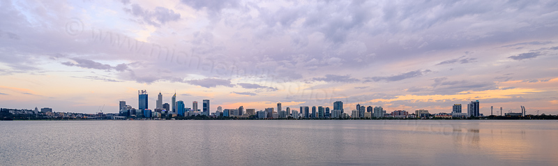 Perth and the Swan River at Sunrise, 6th November 2015