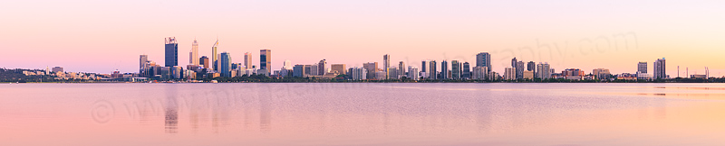 Perth and the Swan River at Sunrise, 8th November 2015