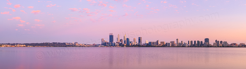 Perth and the Swan River at Sunrise, 9th November 2015