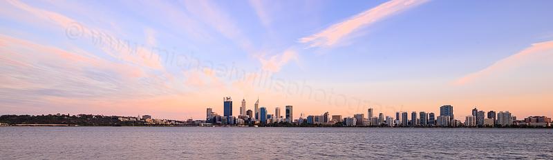 Perth and the Swan River at Sunrise, 10th November 2015