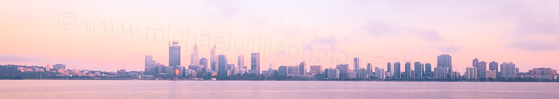Perth and the Swan River at Sunrise, 11th November 2015