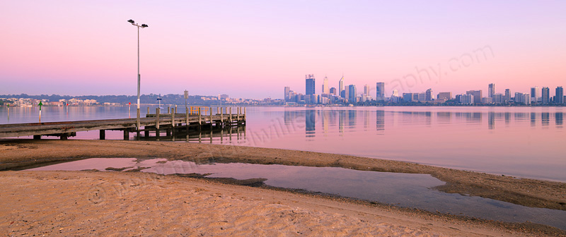 Perth and the Swan River at Sunrise, 16th November 2015
