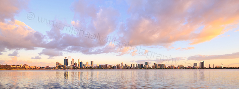 Perth and the Swan River at Sunrise, 19th November 2015