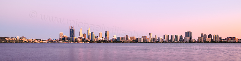 Perth and the Swan River at Sunrise, 20th November 2015
