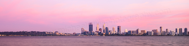Perth and the Swan River at Sunrise, 21st November 2015