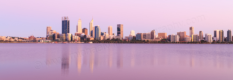 Perth and the Swan River at Sunrise, 25th November 2015
