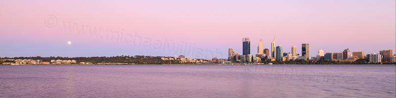 Perth and the Swan River at Sunrise, 26th November 2015