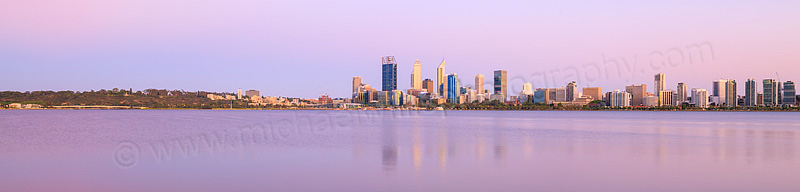 Perth and the Swan River at Sunrise, 1st December 2015