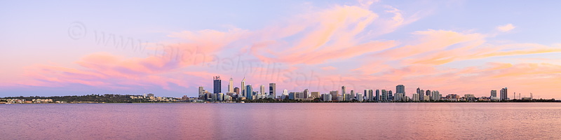 Perth and the Swan River at Sunrise, 2nd December 2015