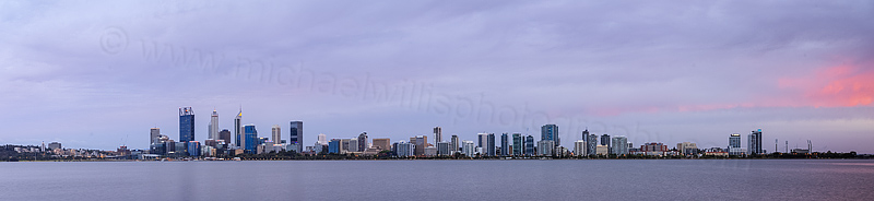 Perth and the Swan River at Sunrise, 4th December 2015
