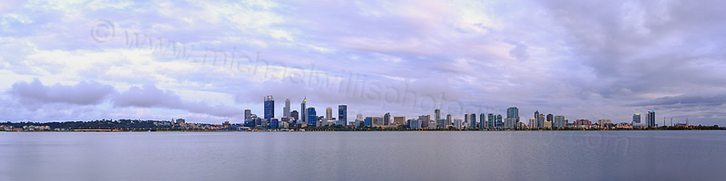 Perth and the Swan River at Sunrise, 5th December 2015