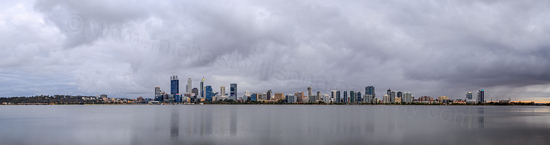 Perth and the Swan River at Sunrise, 7th December 2015