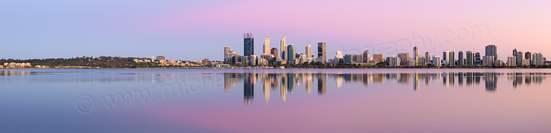 Perth and the Swan River at Sunrise, 8th December 2015