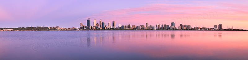 Perth and the Swan River at Sunrise, 10th December 2015