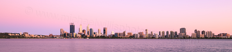Perth and the Swan River at Sunrise, 11th December 2015