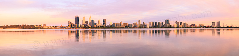 Perth and the Swan River at Sunrise, 12th December 2015