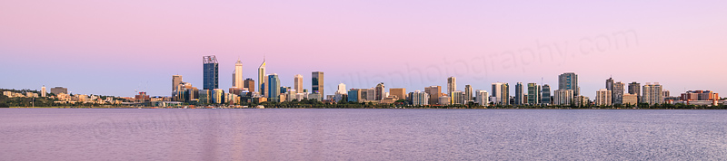 Perth and the Swan River at Sunrise, 13th December 2015