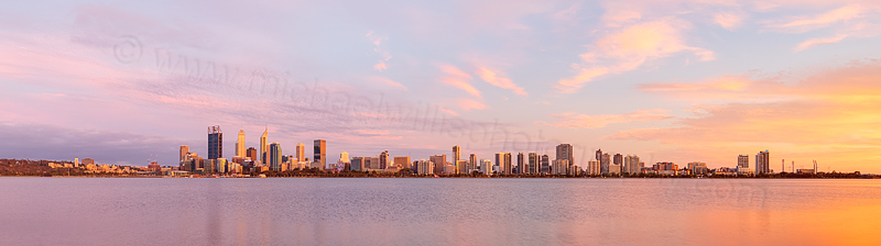 Perth and the Swan River at Sunrise, 16th December 2015