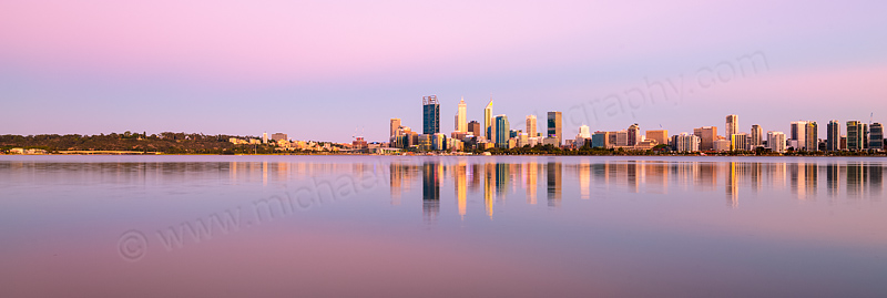 Perth and the Swan River at Sunrise, 17th December 2015