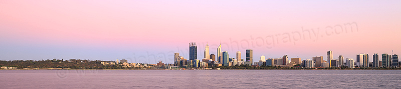 Perth and the Swan River at Sunrise, 18th December 2015