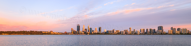 Perth and the Swan River at Sunrise, 19th December 2015