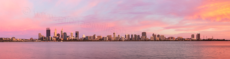 Perth and the Swan River at Sunrise, 20th December 2015