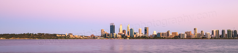 Perth and the Swan River at Sunrise, 23rd December 2015