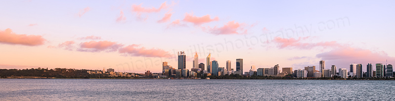 Perth and the Swan River at Sunrise, 24th December 2015