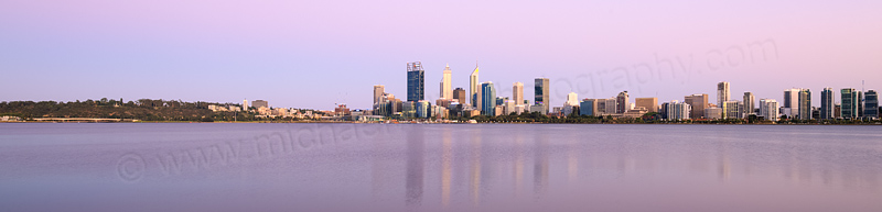 Perth and the Swan River at Sunrise, 25th December 2015