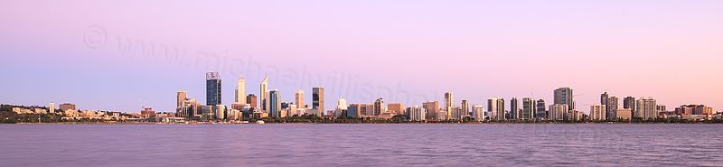 Perth and the Swan River at Sunrise, 27th December 2015