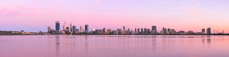 Perth and the Swan River at Sunrise, 29th December 2015