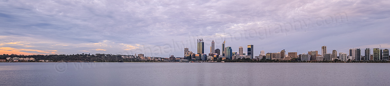 Perth and the Swan River at Sunrise, 30th December 2015